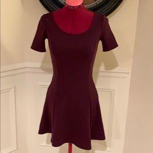 H&M Burgundy Wine Skater Dress